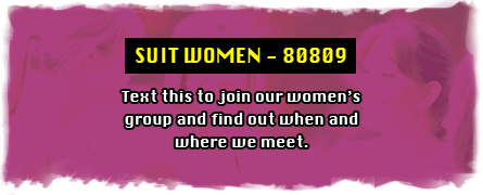 SUIT WOMEN- 88010 text this to join our women's group and find out when and where we meet.